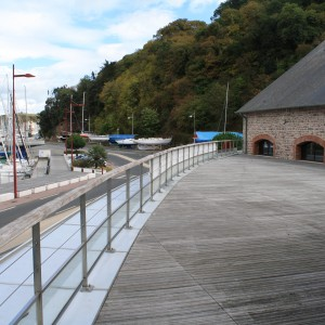 Terasse vue port Saint-Brieuc